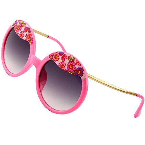 Sumery Ladies Luxury Hairpin Frame Round Lens Sunglasses Women Outdoor Travel Sunglasses (Pink, - Spectacles Mykita