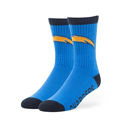 NFL San Diego Chargers '47 Bolt Sport Socks, Blue Raz, Medium (Men's 5-8.5 / Women's 5-9.5), 1-Pack