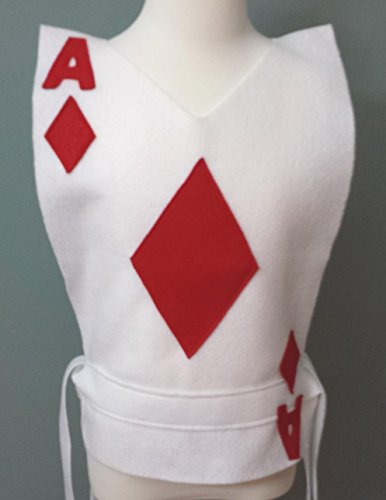 Kids Diamonds Playing Card Costume Tunic - Choose your Card (Alice in Wonderland) - Baby/Toddler/Kids/Teen/Adult Sizes by Teatots Party Planning