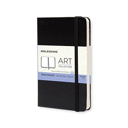 Moleskine Art Plus Sketchbook, Pocket, Plain, Black, Hard Cover (3.5 x 5.5) by Moleskine