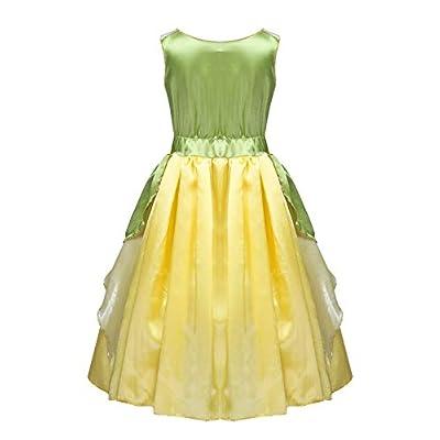 MSemis Kids Girls Princess Costume Sleeveless Bodice Dress Cosplay Party Dress-up Ballroom Gown: Clothing