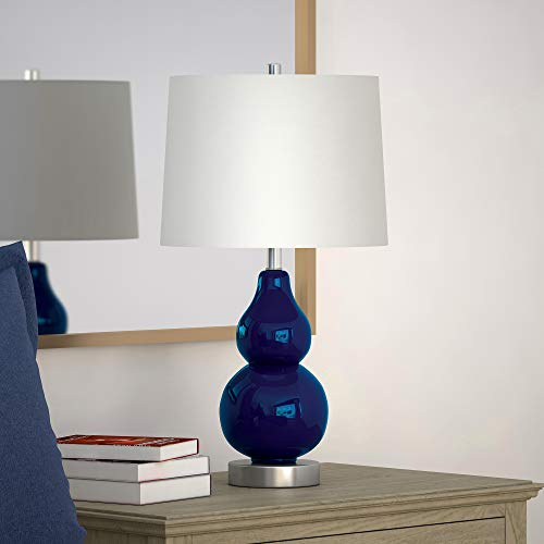 Henn&Hart TL0043 Lumiary Navy Blue Lamp, One Size (Navy Lamps)