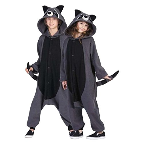 Lifeye Unisex Racoons Pajamas Adult Animal Cosplay Costume Gray ()
