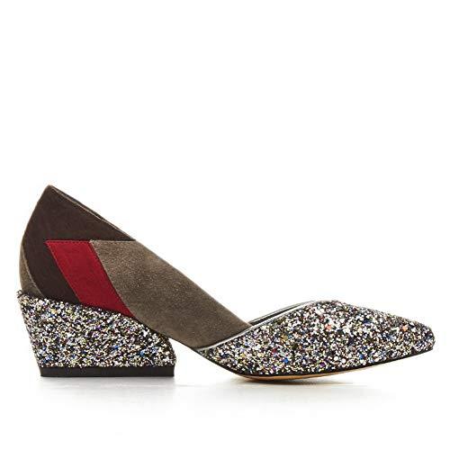 Wedge sandalen dames 1to9 goud Mms06453 Cf4Zn7
