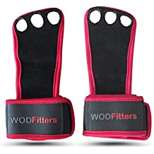 Leather Wrist Support Hand Grips by WODFitters – Perfect Grips For Cross, Functional, Kettlebell & Barbell Training - WODs & Weightlifting - Ergonomic Wrist Support & Callus Protection