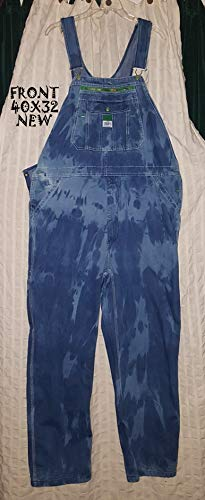(Custom dyed Liberty overalls (new) Mens sized 40 x 32)