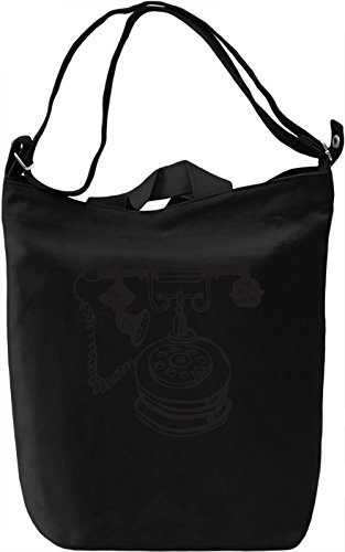 Telephone Borsa Giornaliera Canvas Canvas Day Bag| 100% Premium Cotton Canvas| DTG Printing|