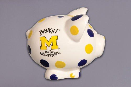 Ceramic Collegiate Piggy Bank (Michigan Wolverines) by Magnolia Lane ()