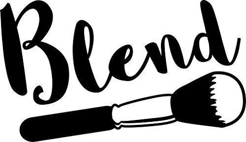 Blend Makeup Artist Vinyl Decal Sticker|Cars Trucks Vans Walls Laptops Cups|Black|7.5 in|KCD887