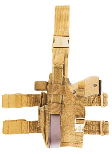 BLACKHAWK! Omega VI Elite Coyote Tan Holster, Size 02, Right Hand, (SIG-226,228/Glock 17,19,22,23,31,32) Ballistic Nylon Thigh Holster
