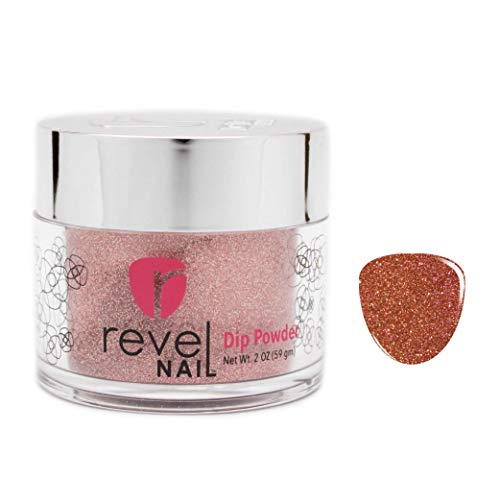 (Revel Nail Dip Powder | for Manicures | Nail Polish Alternative | Non-Toxic & Odor-Free | Crack & Chip Resistant | Can Last Up to 8 Weeks | 2 oz Jar | Glitter Colors (Victoria, 2oz))