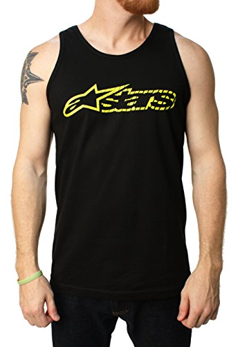 Alpinestars Black-Yellow Blaze Speed Tank Top (S , Black)