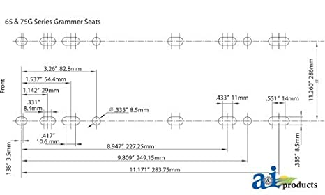 41ZqEKPDhkL._SX466_ amazon com grammer msg75 seat air suspension skidsteer const grammer seat wiring diagram at gsmx.co