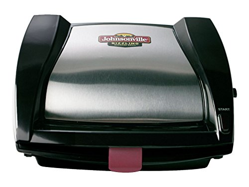 Johnsonville BTG0498 Sizzling Sausage Grill, Black/Stainless