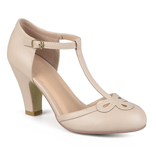 Journee Collection T-strap Bout Rond Mary Jane Pumps Nu