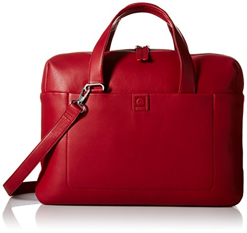 Delsey Luggage Pernety Horizontal 15.6 Inch Laptop Tote, Red, One Size by DELSEY Paris