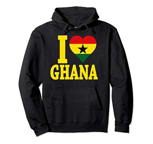Ghanaian pride I love Ghana flag map Africa t-shirt hoodie (Map Africa T-shirt)