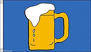 Pinta de cerveza bandera 3'X2' (90cm x 60cm)–Tejido de poliéster
