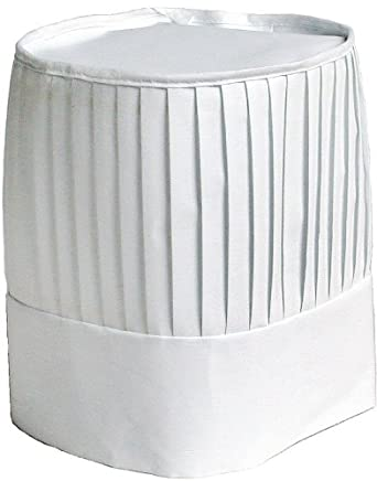 Chef Revival CH-EURO Poly Cotton Pleated Chef Hat, 9-Inch, White