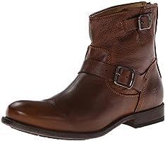 FRYE Men's Tyler Engineer Boot, Cognac, 10.5 M US