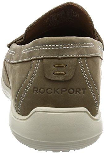 Rockport Total Motion Loafer Penny, Mocasines para Hombre Beige (new Vicuna Nubuck)