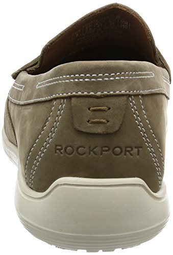 Rockport Total Motion Loafer Penny Mocassini Uomo Beige new Vicuna Nubuck