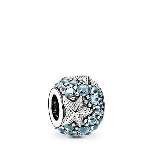 PANDORA Oceanic Starfish Charm, Sterling Silver, Frosty Mint Cubic Zirconia, One - Zirconia Cubic Charm Starfish