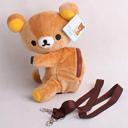- Dr.Luck Rilakkuma Relax Bear Doll Cute Mini Backpack Bag Inclined Shoulder Bag