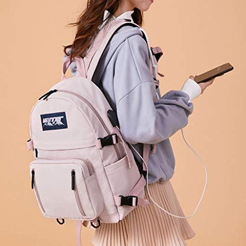 Ownlife - Zaino impermeabile da donna, con porta USB, per la scuola, per adolescenti e ragazze