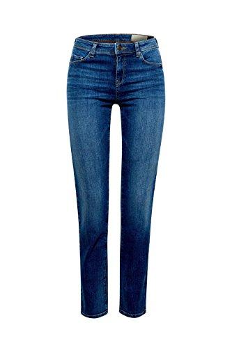 Esprit Droit Blue Wash Medium 902 Femme Jean Bleu TTrz1