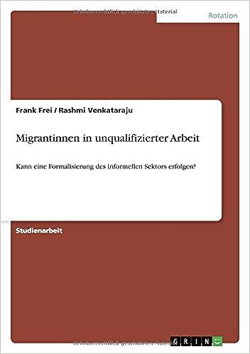 Migrantinnen in unqualifizierter Arbeit