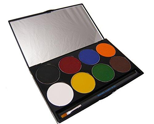 Mehron Professional Paradise Makeup AQ 8 Color Palette, 2.0 Ounce - Basic ()