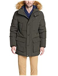 Tommy Hilfiger Men's Big and Tall Arctic Cloth Full Length Quilted Snorkel Jacket