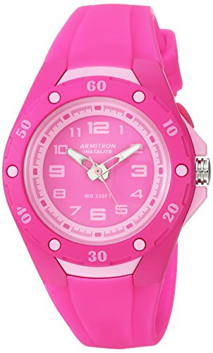 Armitron Sport Women's 25/6428MAG Light Pink Accented Magenta Silicone Strap Watch