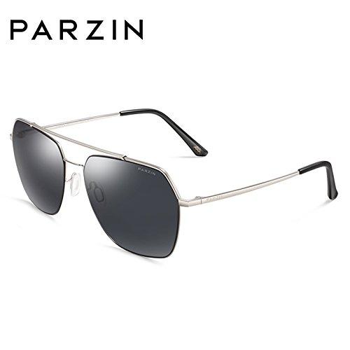 marco metal polarizadas negras Black conductor KOMNY con de de sol cenizas de espejo Silver plateado sol de Frame masculino gafas gafas de Ash gafas mareas Marco RxAtv8x