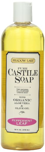Citra Solv Shadow Lake Castile Soap Liquid, Peppermint, 16 Ounce (Pack of 6)