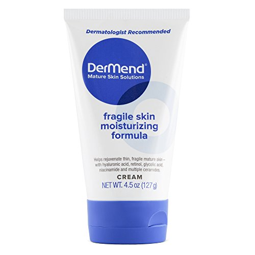 DerMend Specialized Fragile Skin Moisturizing Cream: Formula to Restore & Rejuvenate Mature Skin - Daily Moisturizer & Anti Wrinkle Cream for Firming & Strengthening Thin, Aging Skin - 4.5 Oz Tube