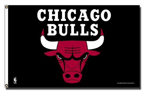 NBA Chicago Bulls 3-Foot by 5-Foot Banner Flag