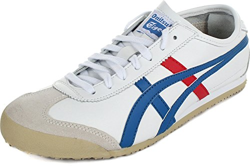 (Onitsuka Tiger Mexico 66 Fashion Sneaker, White/Red/Blue, 14 M Men's US/15.5 Women's M US)