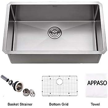 APPASO Norn Pro 32-Inch 18 Gauge Stainless Steel 10 inch Deep ... on