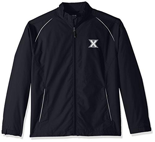 NCAA Xavier Musketeers Adult Men CB Weathertec Beacon Full Zip Jacket, Small, Navy Blue