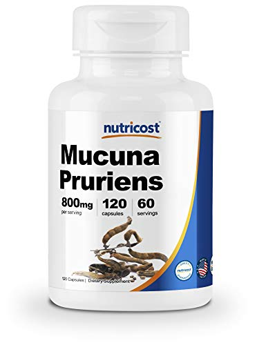 Nutricost Mucuna Pruriens 400mg, 120 Capsules - 800mg Per Serving - Made with High-Quality Mucuna Pruriens Seed (Best L Dopa Supplement)