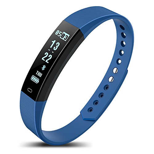 Price comparison product image Fitness Tracker, Activity Tracker Watch with Heart Rate Monitor, Sleep Monitor, IPX7 Waterproof Smart Fitness Band with Step Counter, Calorie Counter, Pedometer Watch for Kids Women and Men