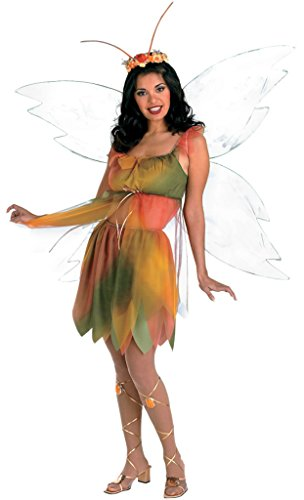 Disguise Womens Fancy Halloween Felicity The Woodland Fairy Theme Party Costume, One Size (Up To 16)