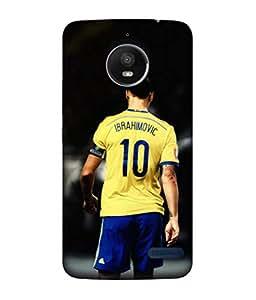 ColorKing Football Ibrahimovic Sweden 01 Black shell case cover for Motorola Moto E4