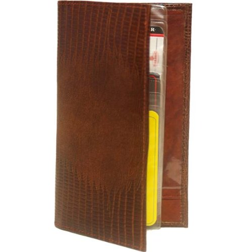 100% Leather Check Book Covers Brown #156LZ, Office Central