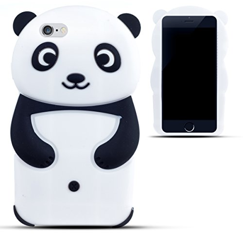 Zooky® Black silicone Panda Case / Cover / Shell for Apple iPhone ...