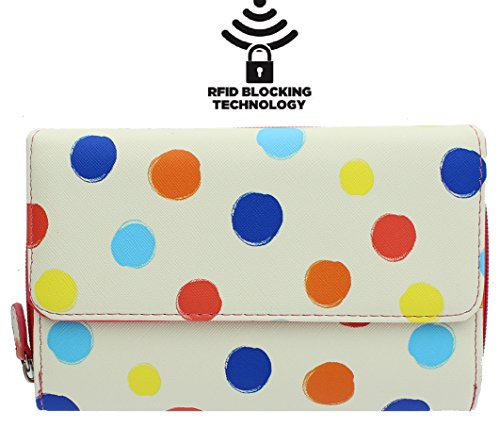 mundi-big-fat-womens-rfid-blocking-wallet-clutch-organizer-with-change-pocket-dottie