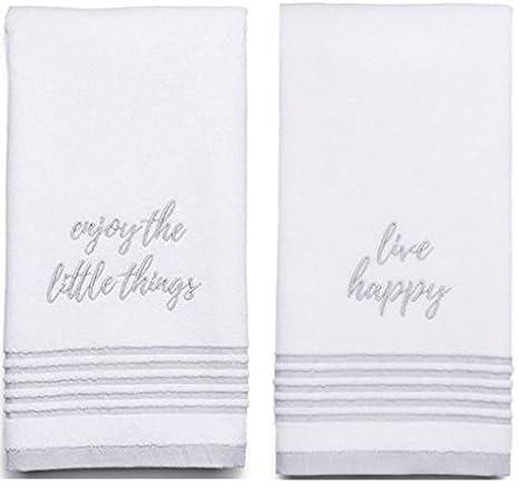 """Enjoy the little things """"Sonoma bordado decorativo algodón toalla de mano, color"""