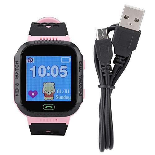 1,44″Smartwatch voor kinderen, Smartwatch voor kinderen Mobiele telefoon, waterdicht touchscreen met GPS-tracker SOS-hulp, voor meisjes Jongens van 4-12 jaar(Roze)